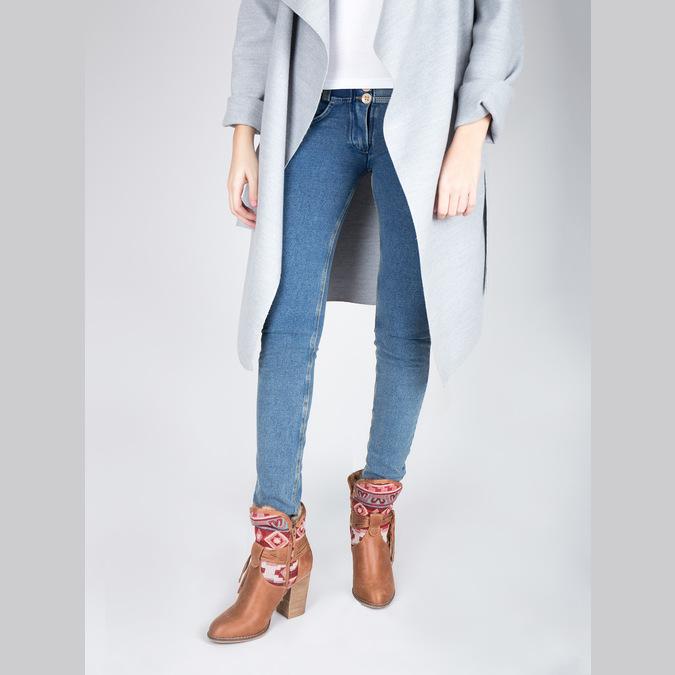 Ocieplane botki w stylu kowbojskim bata, brązowy, 699-4603 - 18