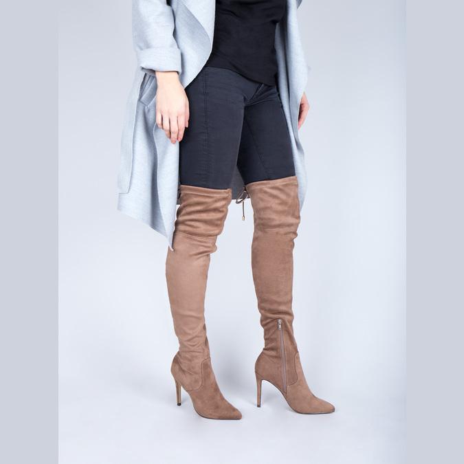 Kozaki damskie nad kolana bata, brązowy, 799-3600 - 18