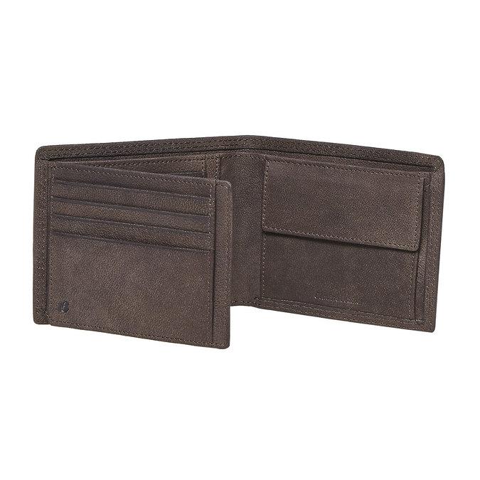 Męski skórzany portfel bata, brązowy, 944-4129 - 17