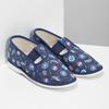 Granatowe wzorzyste kapcie dziecięce bata, niebieski, 379-9012 - 26