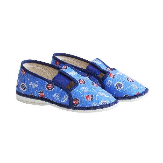 Pantofle dziecięce bata, niebieski, 179-0105 - 26