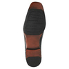 Czarne skórzane półbuty bata, czarny, 824-6724 - 26