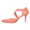 Damskie czółenka w szpic z paskiem na podbiciu bata, różowy, multi color, 724-0904 - 26