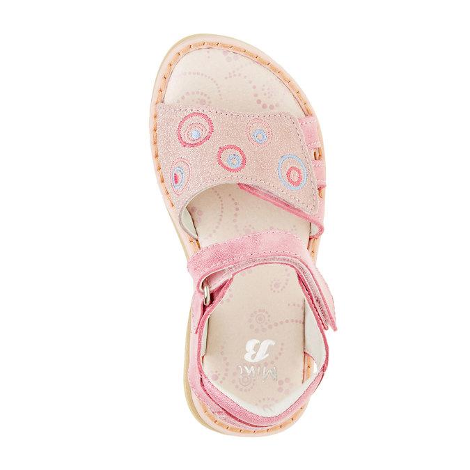 Dziecięce skórzane sandały mini-b, różowy, 266-5310 - 19