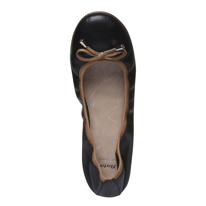 Czarne skórzane baleriny bata, czarny, 524-6485 - 19