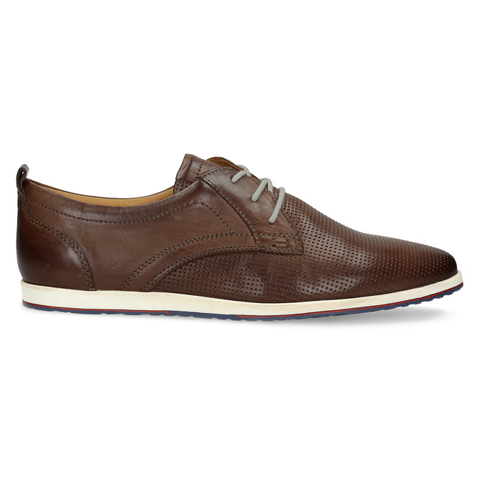 Skórzane buty sportowe na co dzień bata, brązowy, 824-4124 - 19