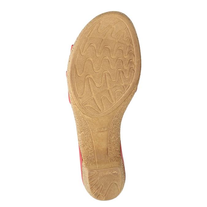 Skórzane sandały na niskim obcasie bata-touch-me, czerwony, 666-5203 - 19