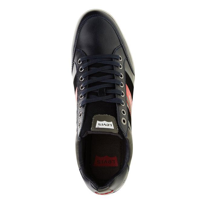 Skórzane buty sportowe na co dzień levis, czarny, niebieski, 844-9260 - 19
