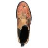 Skórzane Chelsea Boots z kwiatowym wzorem bata, brązowy, 596-3620 - 19