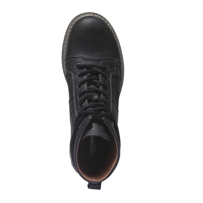 Skórzane buty z oryginalnymi sznurówkami weinbrenner, czarny, 594-6409 - 19