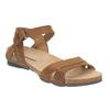 Damskie skórzane sandały weinbrenner, brązowy, 566-4102 - 13