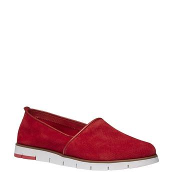 Skórzane buty Slip-on z perforacją flexible, czerwony, 513-5200 - 13