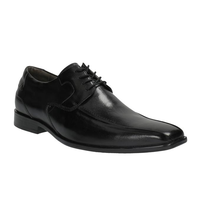 Męskie skórzane półbuty bata, czarny, 824-6721 - 13
