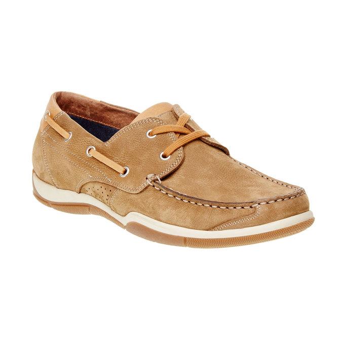 Skórzane mokasyny w codziennym stylu bata, brązowy, 856-3176 - 13