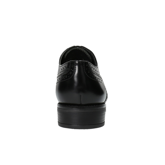 Półbuty damskie bata, czarny, 524-6600 - 17
