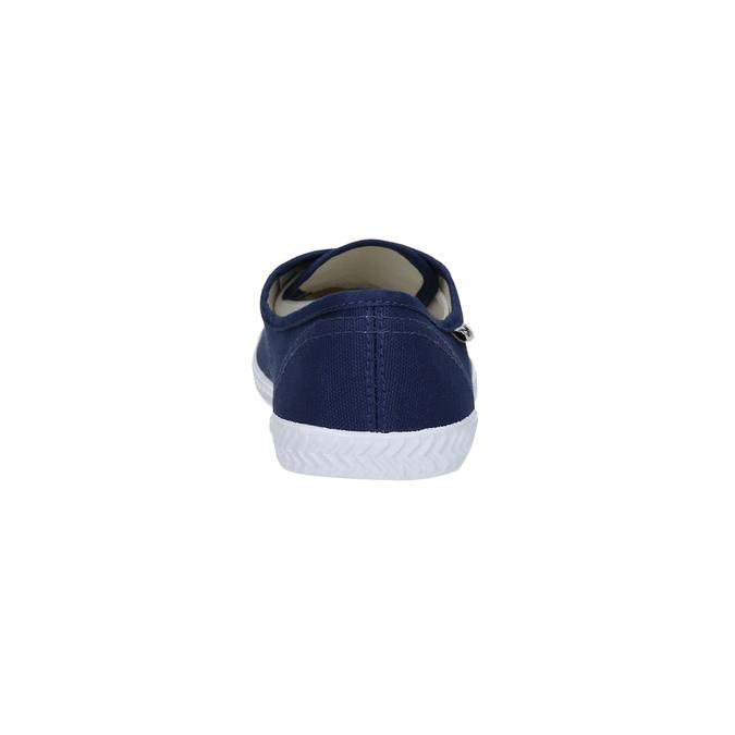 Niebieskie trampki z materiału tekstylnego tomy-takkies, niebieski, 519-9691 - 17