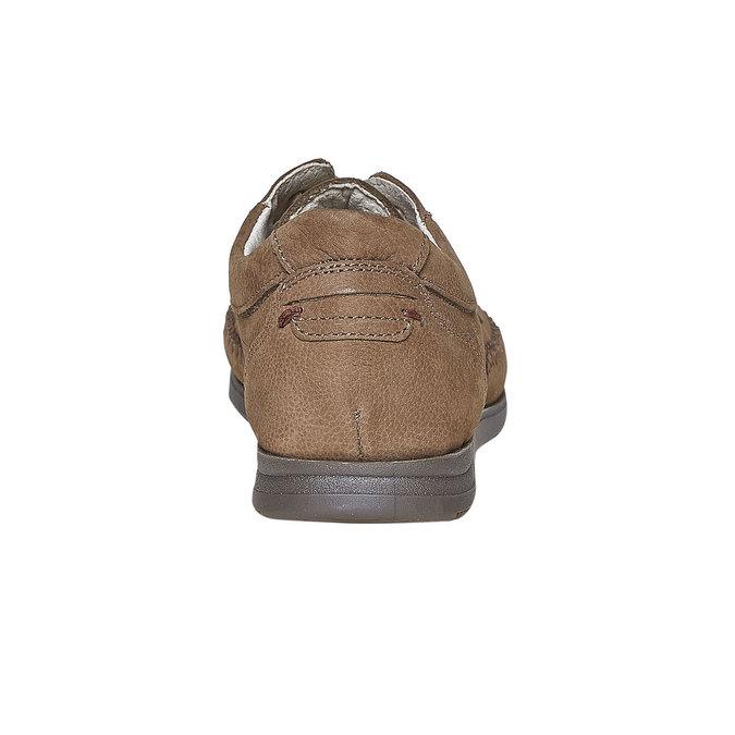 Skórzane półbuty na co dzień, brązowy, 856-3183 - 17