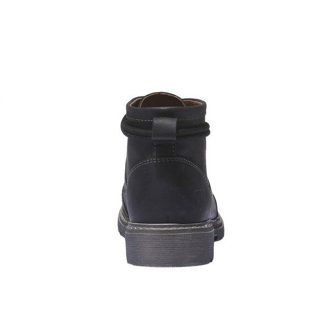 Skórzane buty z oryginalnymi sznurówkami weinbrenner, czarny, 594-6409 - 17