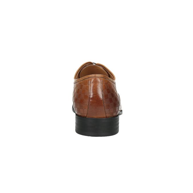 Brązowe oksfordy ze skóry bata, brązowy, 824-3643 - 17