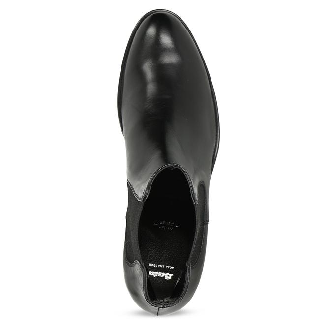Skórzane obuwie damskie typu chelsea bata, czarny, 594-6448 - 17