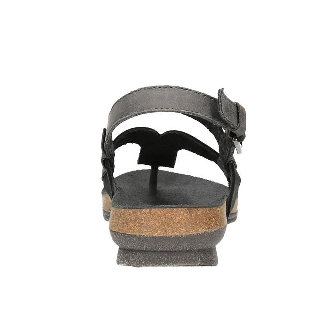 Damskie skórzane sandały weinbrenner, czarny, 566-6101 - 17