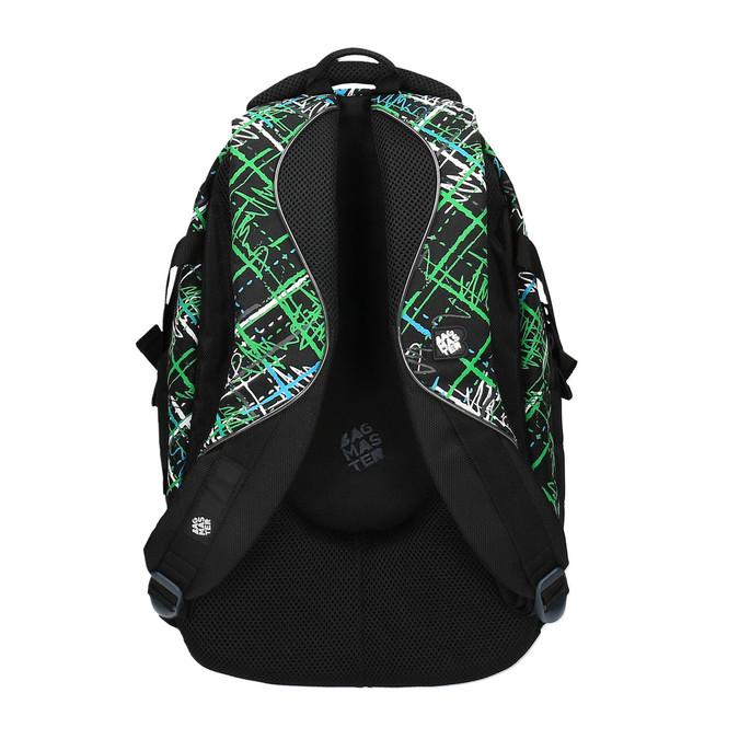 Plecak szkolny z nadrukiem bagmaster, zielony, 969-7613 - 26
