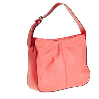 Czerwona torebka z regulowanym uchwytem bata, różowy, 961-5792 - 13