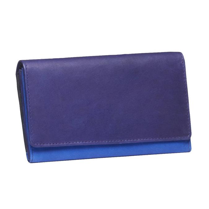 Damski skórzany portfel bata, niebieski, fioletowy, 944-9156 - 13