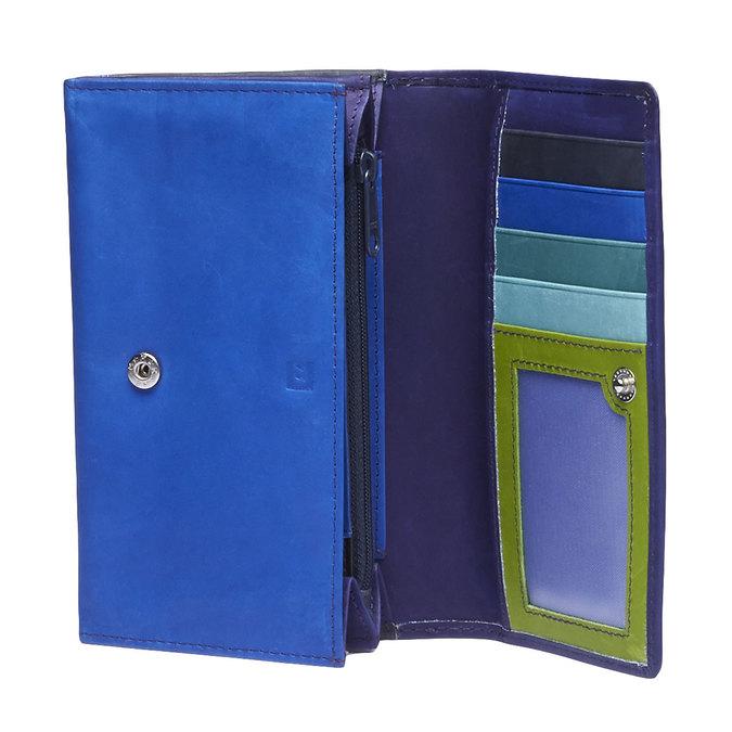 Damski skórzany portfel bata, niebieski, fioletowy, 944-9156 - 15