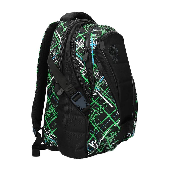 Plecak szkolny z nadrukiem bagmaster, zielony, 969-7613 - 13