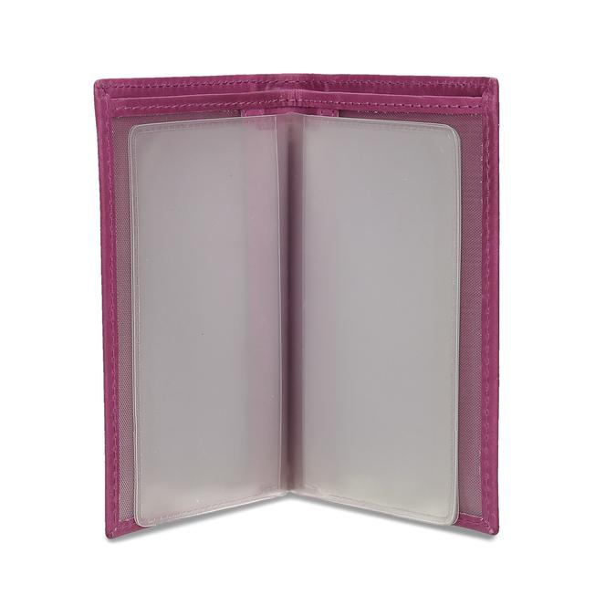 Skórzane etui na karty bata, różowy, 944-5158 - 15