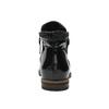 Buty za kostkę ze skóry z suwakami bata, czarny, 596-6605 - 17