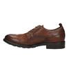 Skórzane półbuty męskie onieformalnym stylu bata, brązowy, 826-4732 - 26