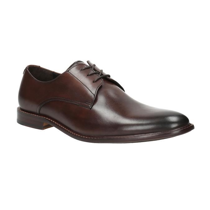 Skórzane brązowe półbuty bata, brązowy, 824-4684 - 13
