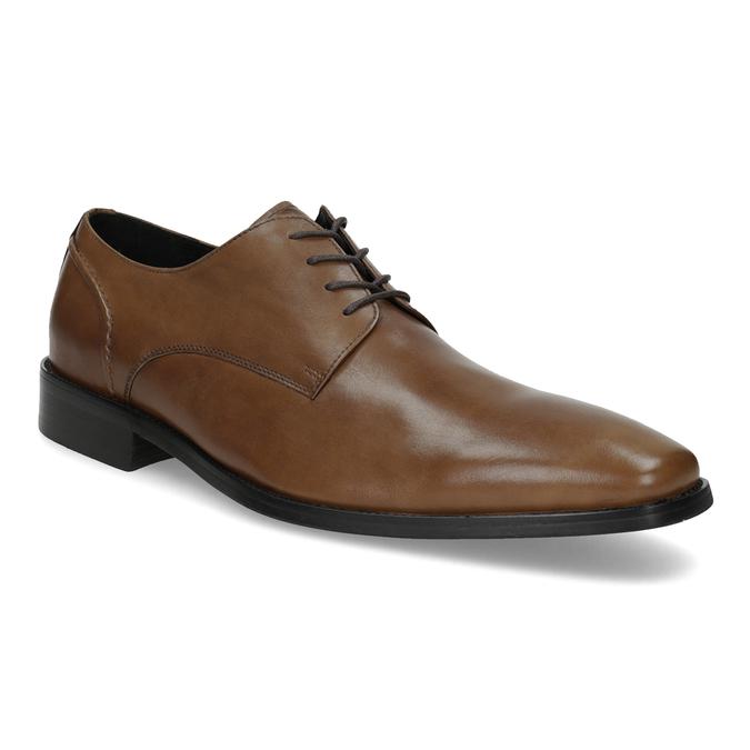Brązowe skórzane półbuty męskie typu angielki bata, brązowy, 826-3646 - 13
