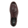 Bordowe skórzane półbuty bata, czerwony, 826-5645 - 19