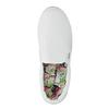 Białe buty Slip-on na szerokiej podeszwie bata, biały, 529-1631 - 19