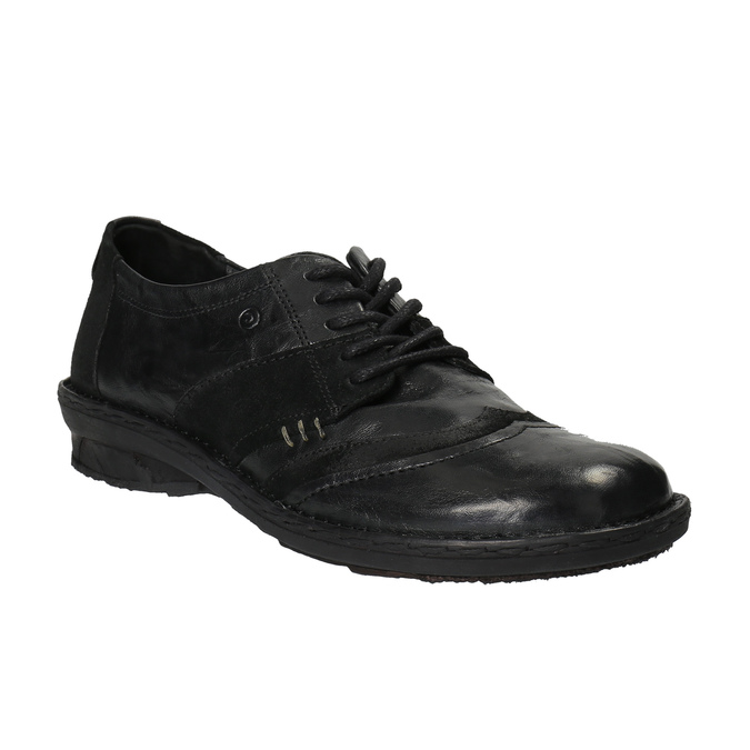 Damskie skórzane buty sportowe bata, czarny, 526-6601 - 13