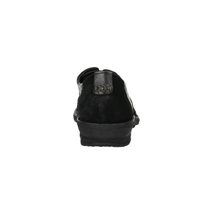 Damskie skórzane buty sportowe bata, czarny, 526-6601 - 17