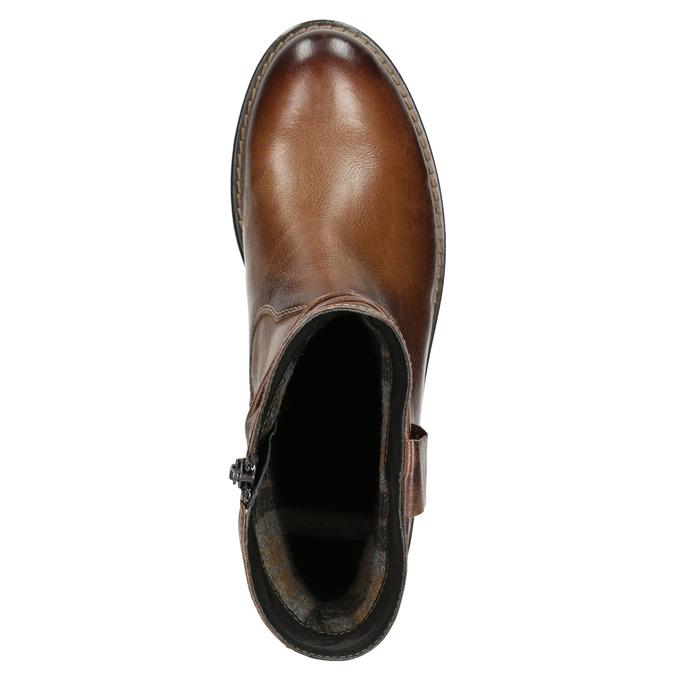 Skórzane botki kowbojki bata, brązowy, 594-4611 - 26