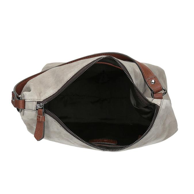 Skórzana torba wstylu hobo bata, szary, 963-2130 - 15