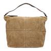 Skórzana torebka z przeszyciami bata, brązowy, 963-3130 - 26