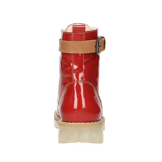 Skórzane botki na przezroczystej podeszwie weinbrenner, czerwony, 598-5602 - 17