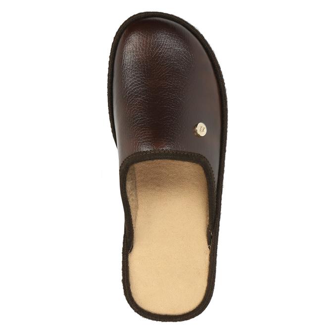 Kapcie męskie zpełnymi noskami bata, brązowy, 871-4304 - 19