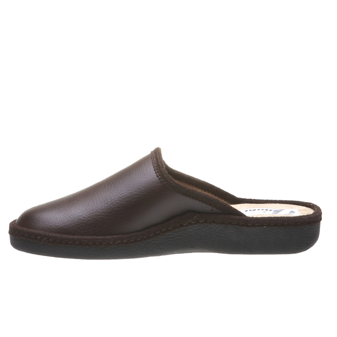 Kapcie męskie zpełnymi noskami bata, brązowy, 871-4304 - 15
