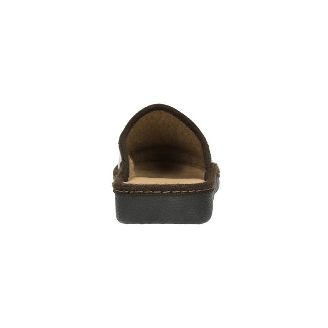 Kapcie męskie zpełnymi noskami bata, brązowy, 871-4304 - 17
