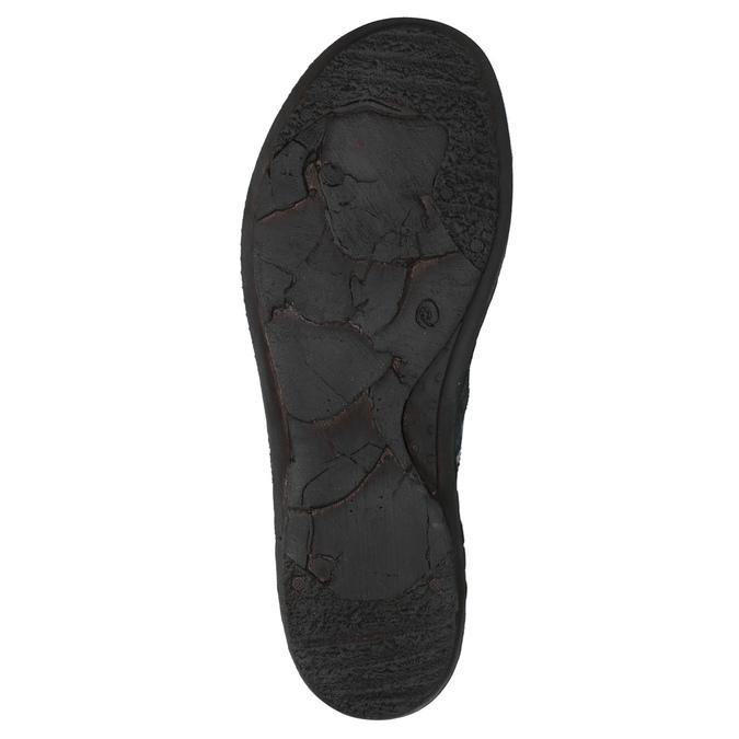 Damskie skórzane buty sportowe bata, niebieski, 526-9601 - 26
