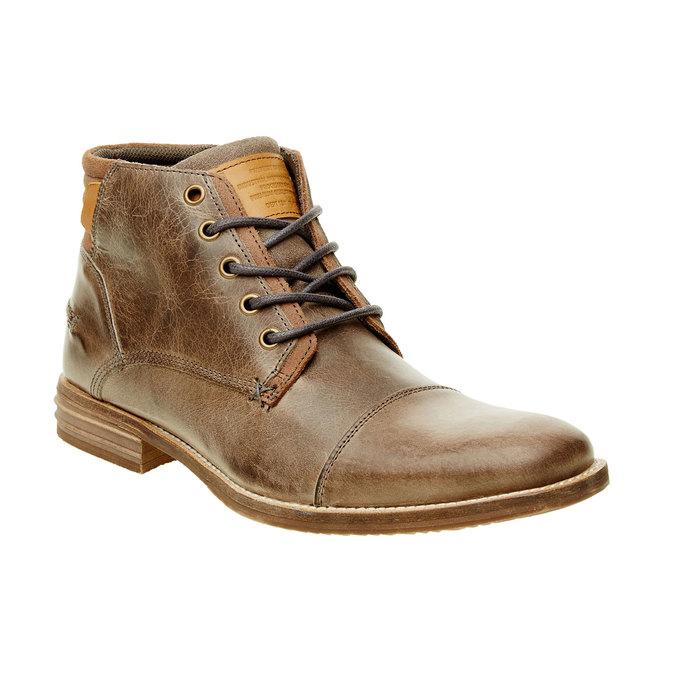 Męskie skórzane botki bata, brązowy, 894-2620 - 13