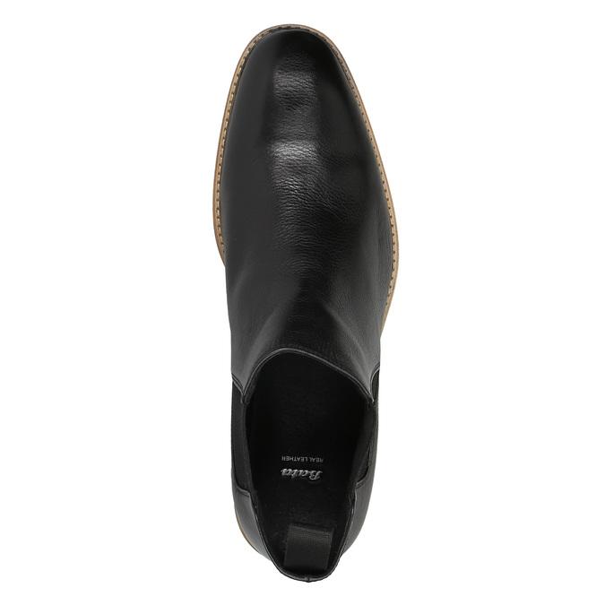 Skórzane buty typu Chelsea bata, czarny, 894-6666 - 19