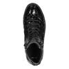 Skórzane trampki za kostkę, zzamkami bata, czarny, 546-6600 - 19